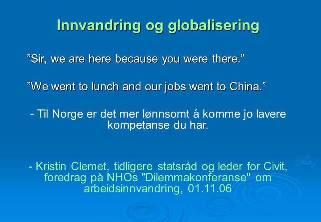 Innvandring og globalisering