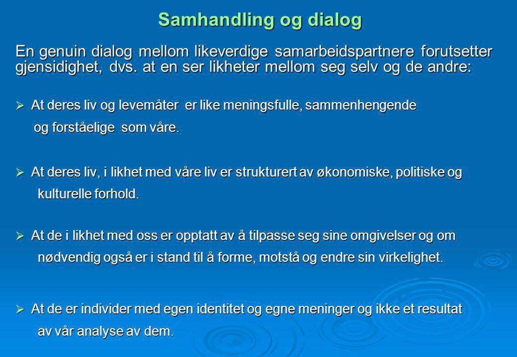 Samhandling og dialog