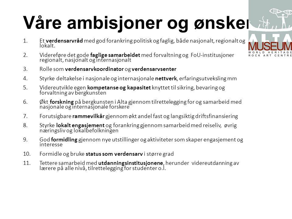 Våre ambisjoner og ønsker