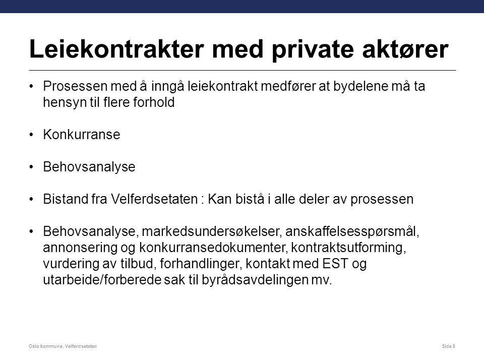 Leiekontrakter med private aktører