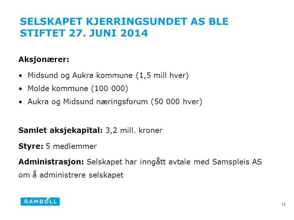 Selskapet Kjerringsundet AS ble stiftet 27. juni 2014