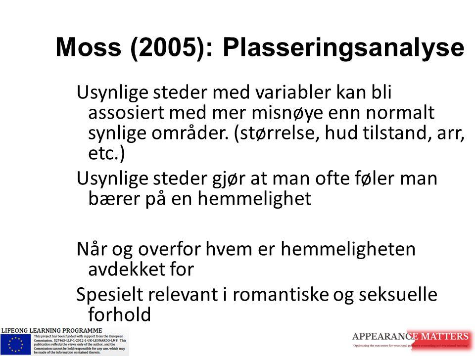 Moss (2005): Plasseringsanalyse