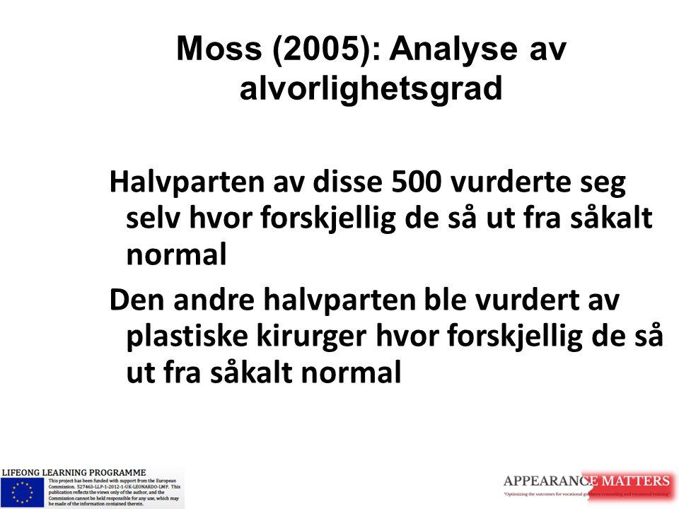 Moss (2005): Analyse av alvorlighetsgrad