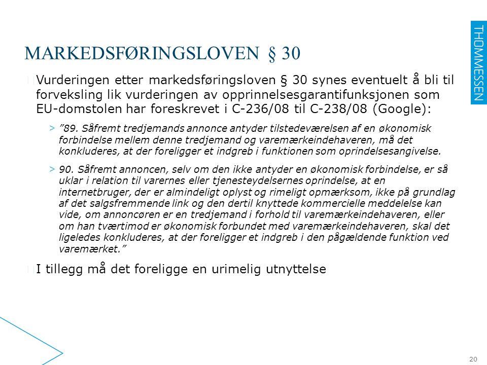 Markedsføringsloven § 30