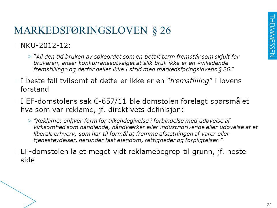 Markedsføringsloven § 26