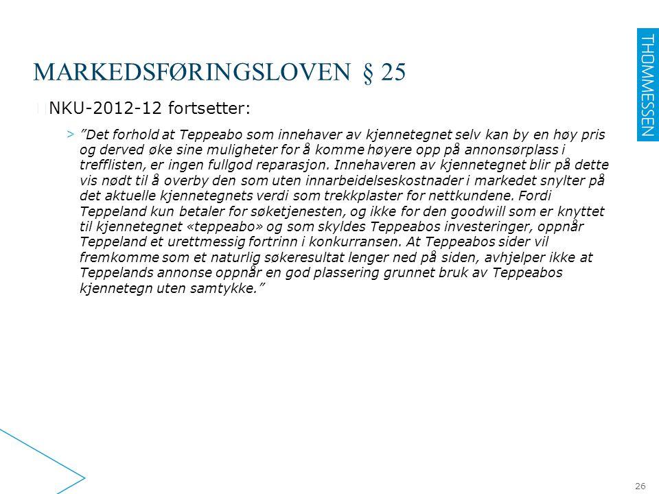 Markedsføringsloven § 25