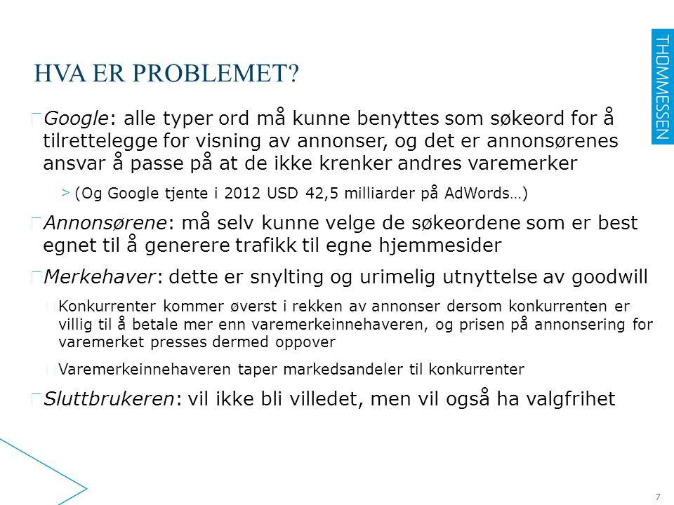 Hva er problemet