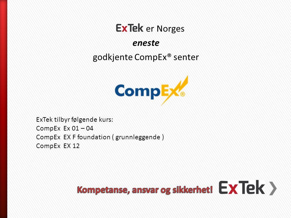godkjente CompEx® senter