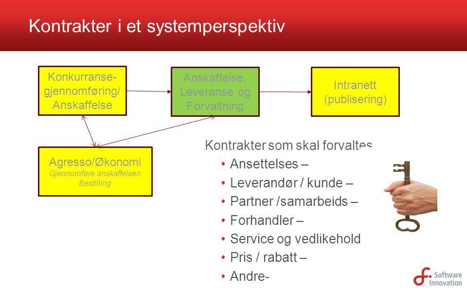 Kontrakter i et systemperspektiv