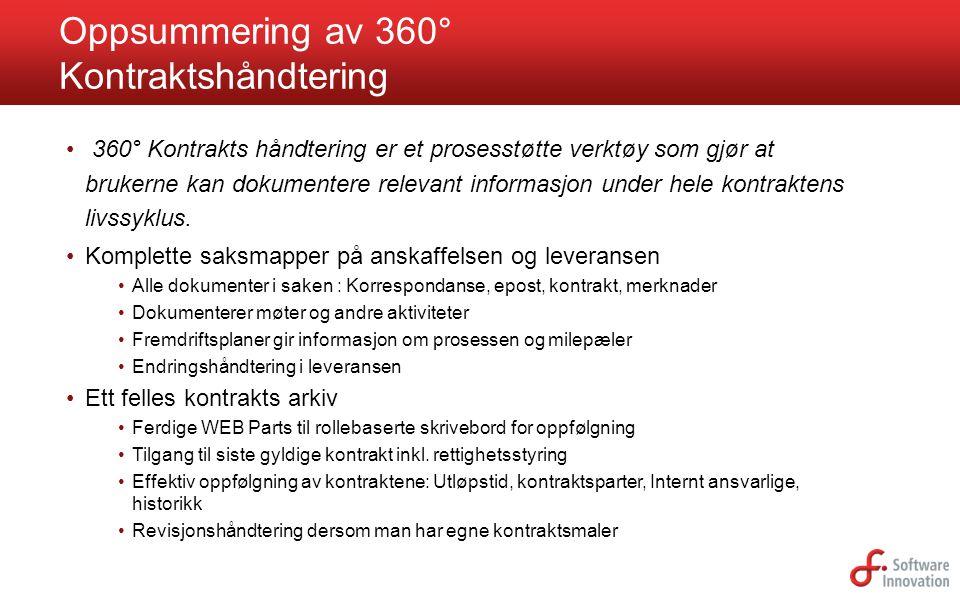 Oppsummering av 360° Kontraktshåndtering