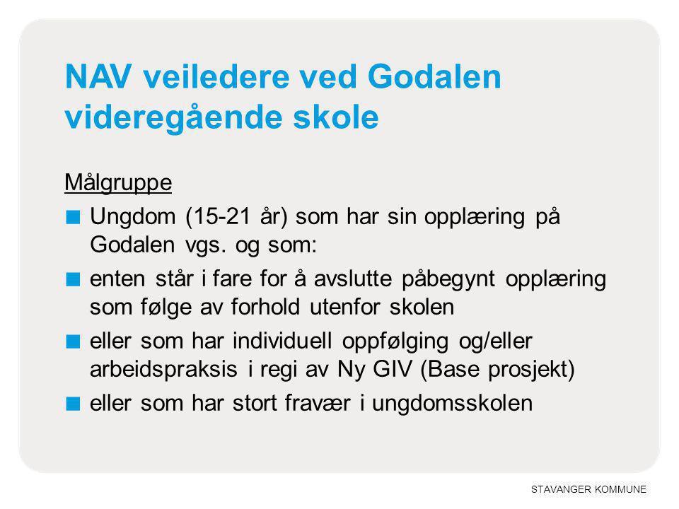 NAV veiledere ved Godalen videregående skole