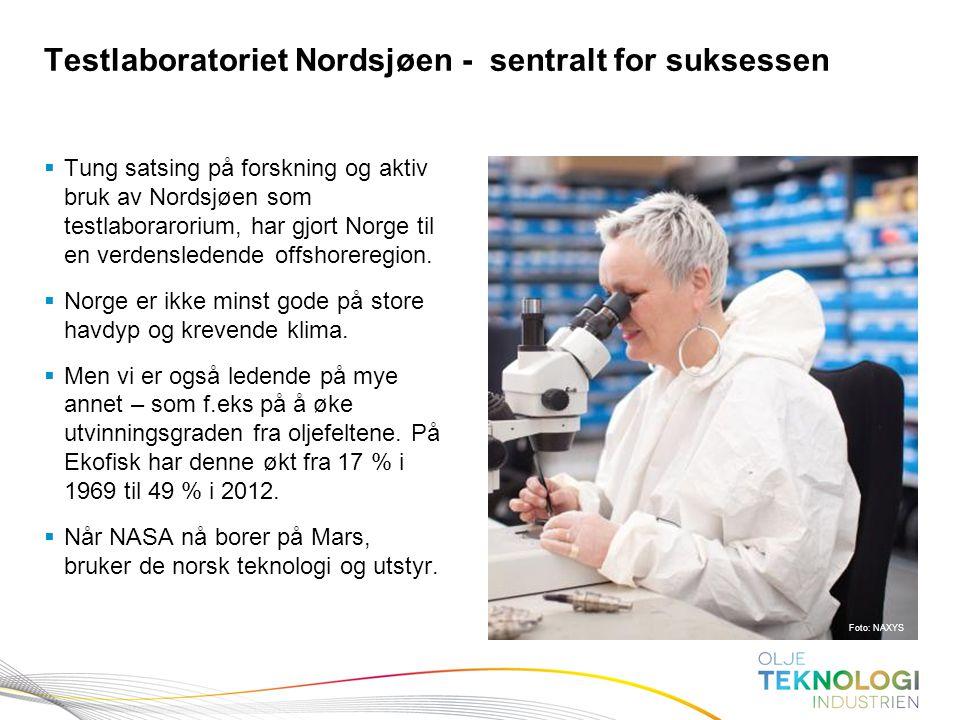 Testlaboratoriet Nordsjøen - sentralt for suksessen