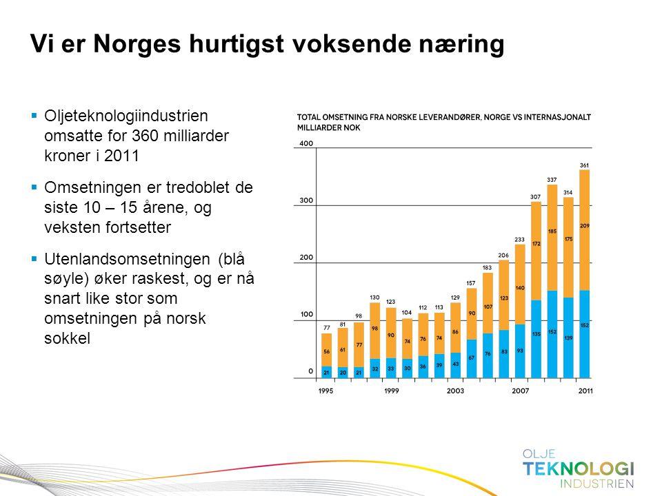 Vi er Norges hurtigst voksende næring