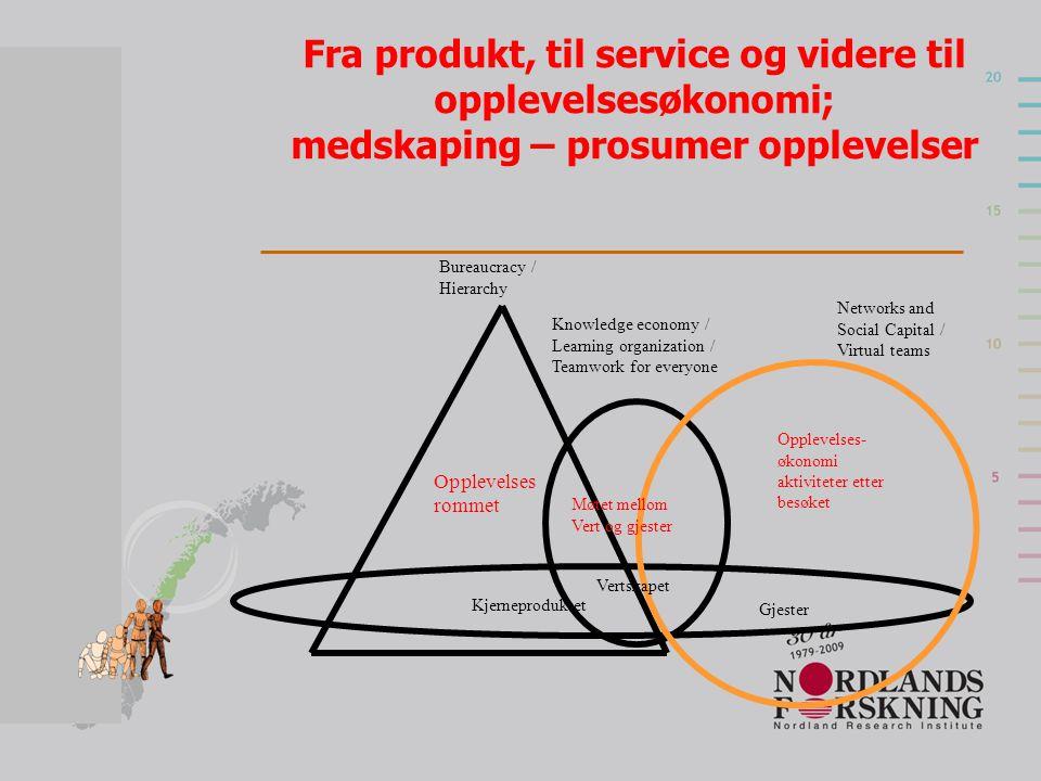 Fra produkt, til service og videre til opplevelsesøkonomi; medskaping – prosumer opplevelser
