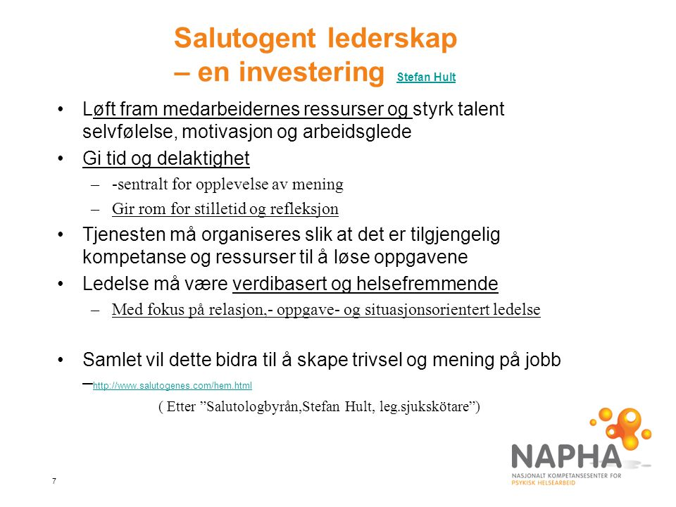 Salutogent lederskap – en investering Stefan Hult