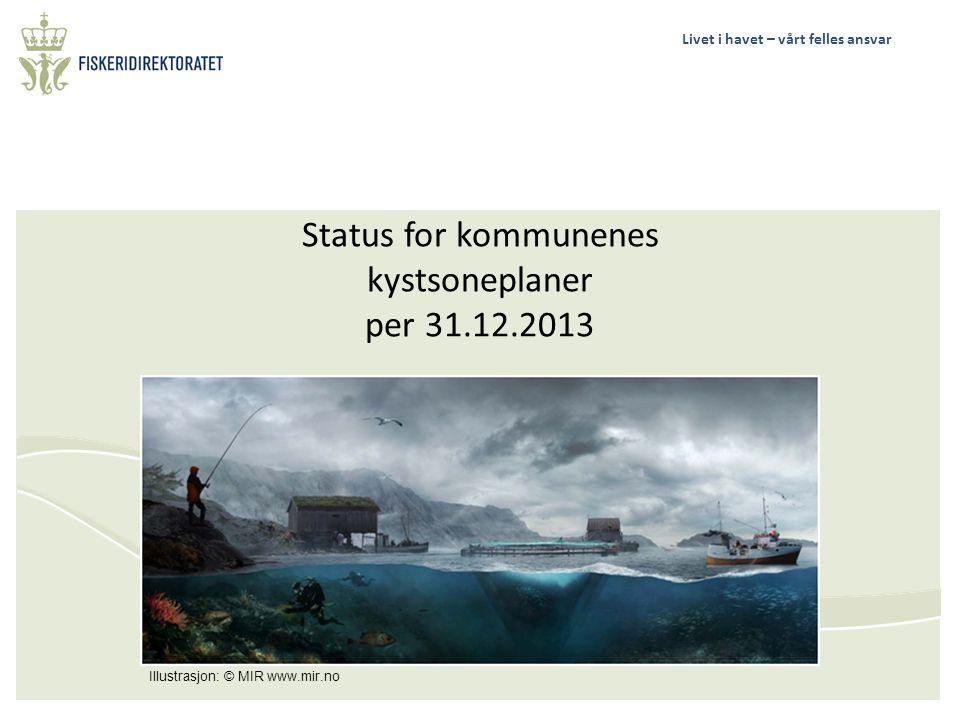 Status for kommunenes kystsoneplaner per 31.12.2013