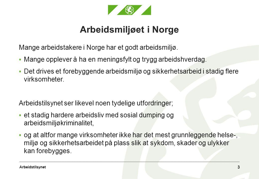 Arbeidsmiljøet i Norge