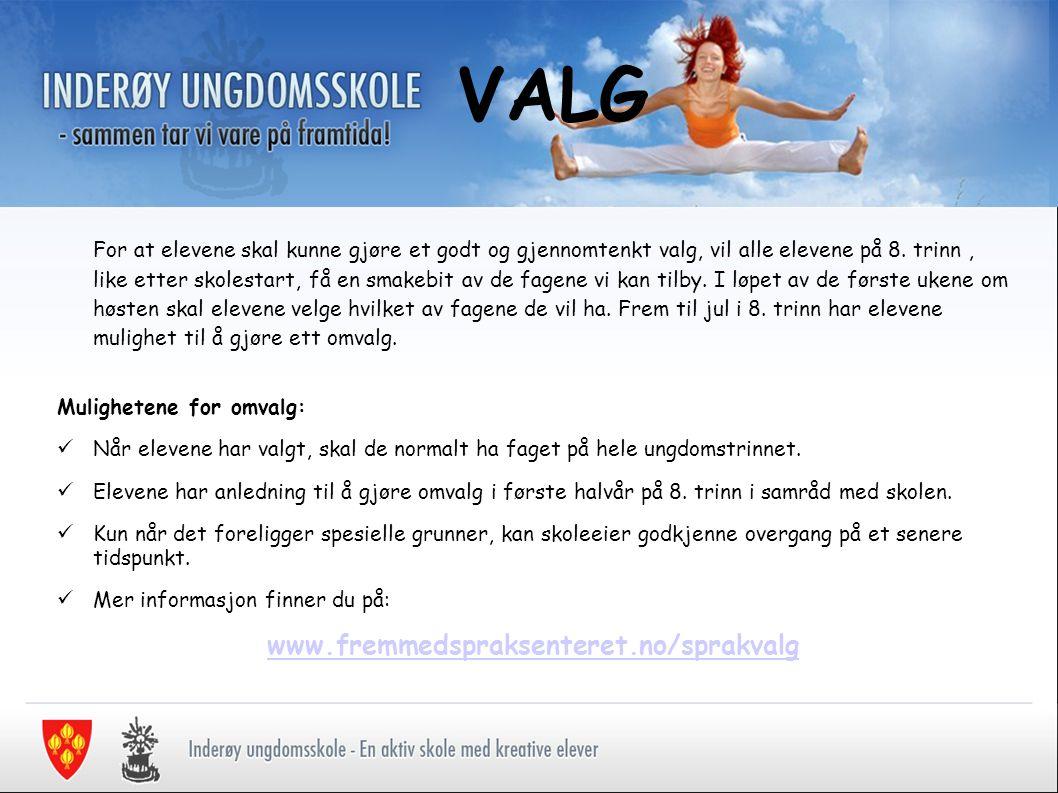 VALG www.fremmedspraksenteret.no/sprakvalg
