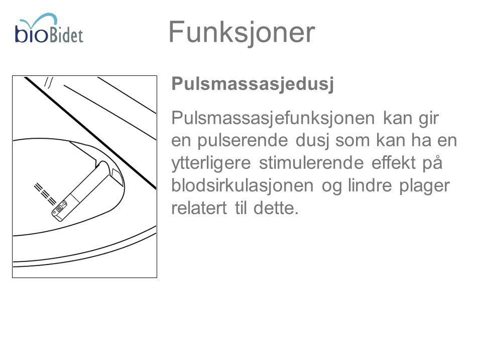 Funksjoner Pulsmassasjedusj