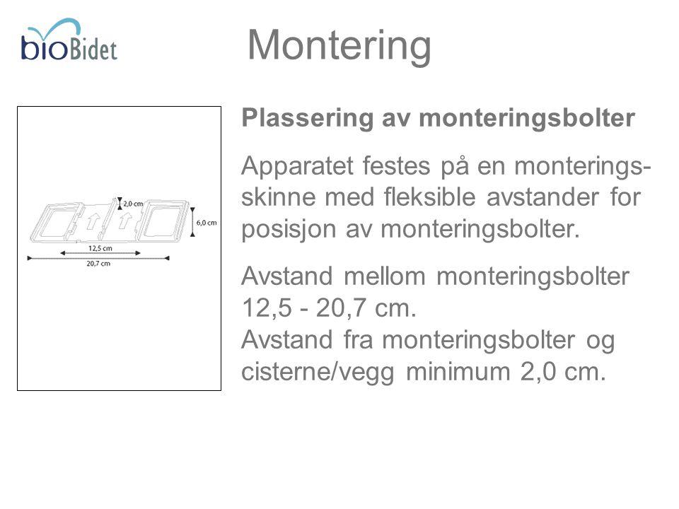 Montering Plassering av monteringsbolter