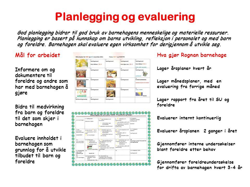Planlegging og evaluering