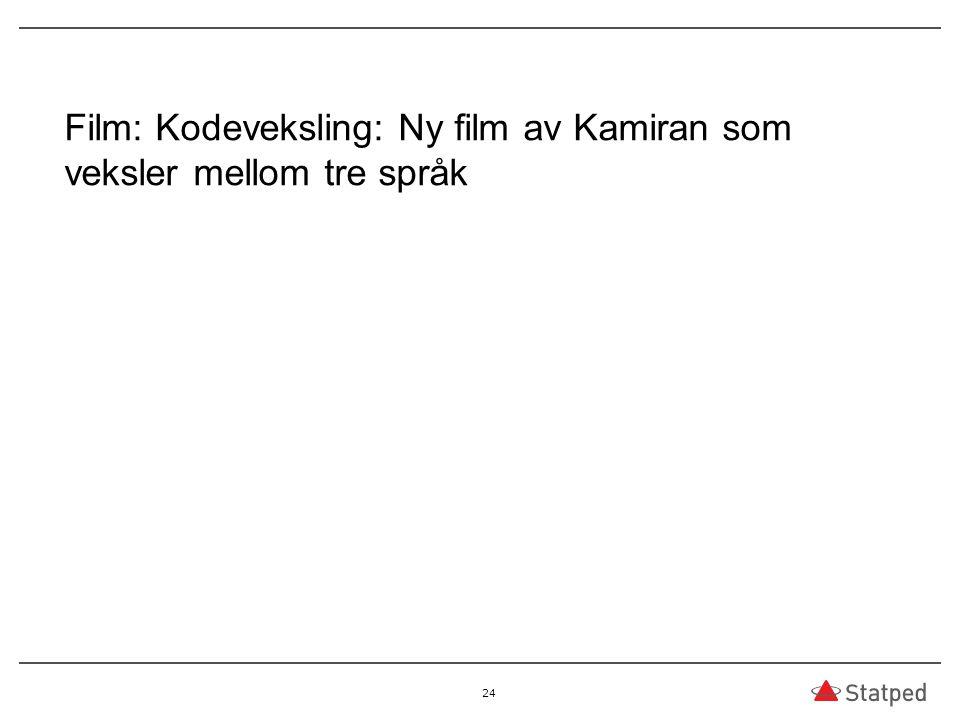 Film: Kodeveksling: Ny film av Kamiran som veksler mellom tre språk