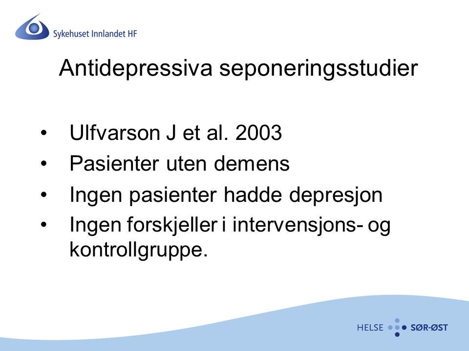 Antidepressiva seponeringsstudier
