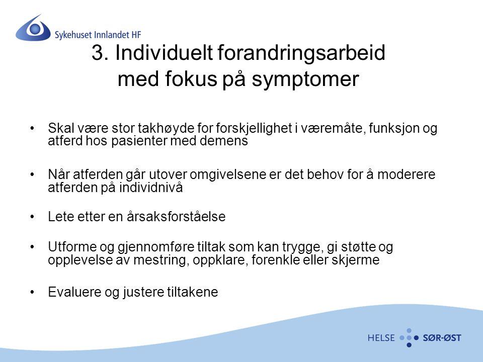 3. Individuelt forandringsarbeid med fokus på symptomer