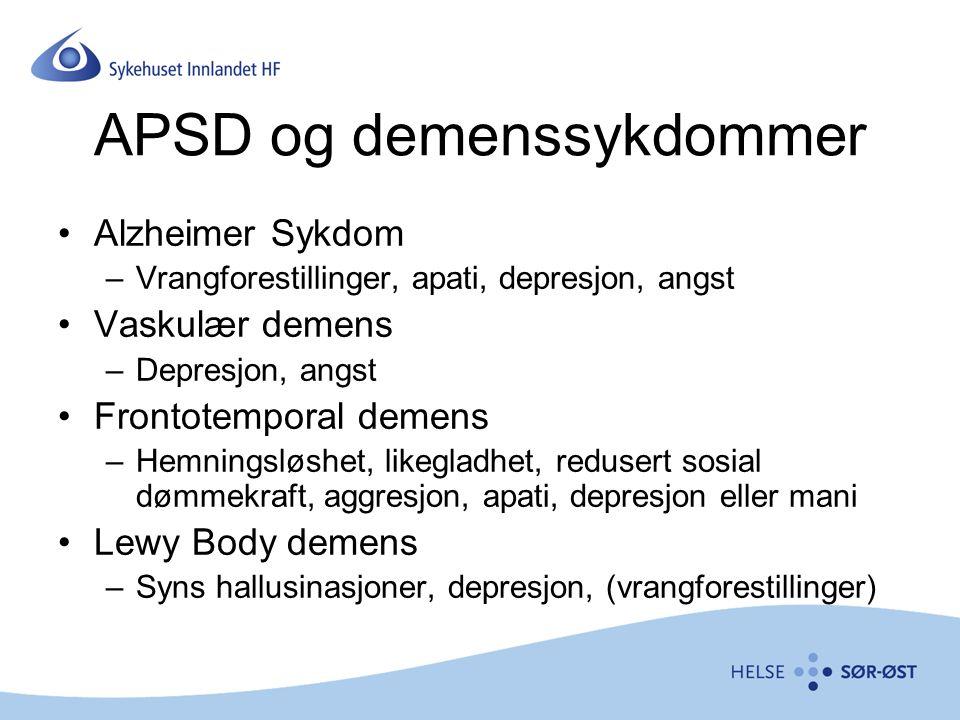 APSD og demenssykdommer