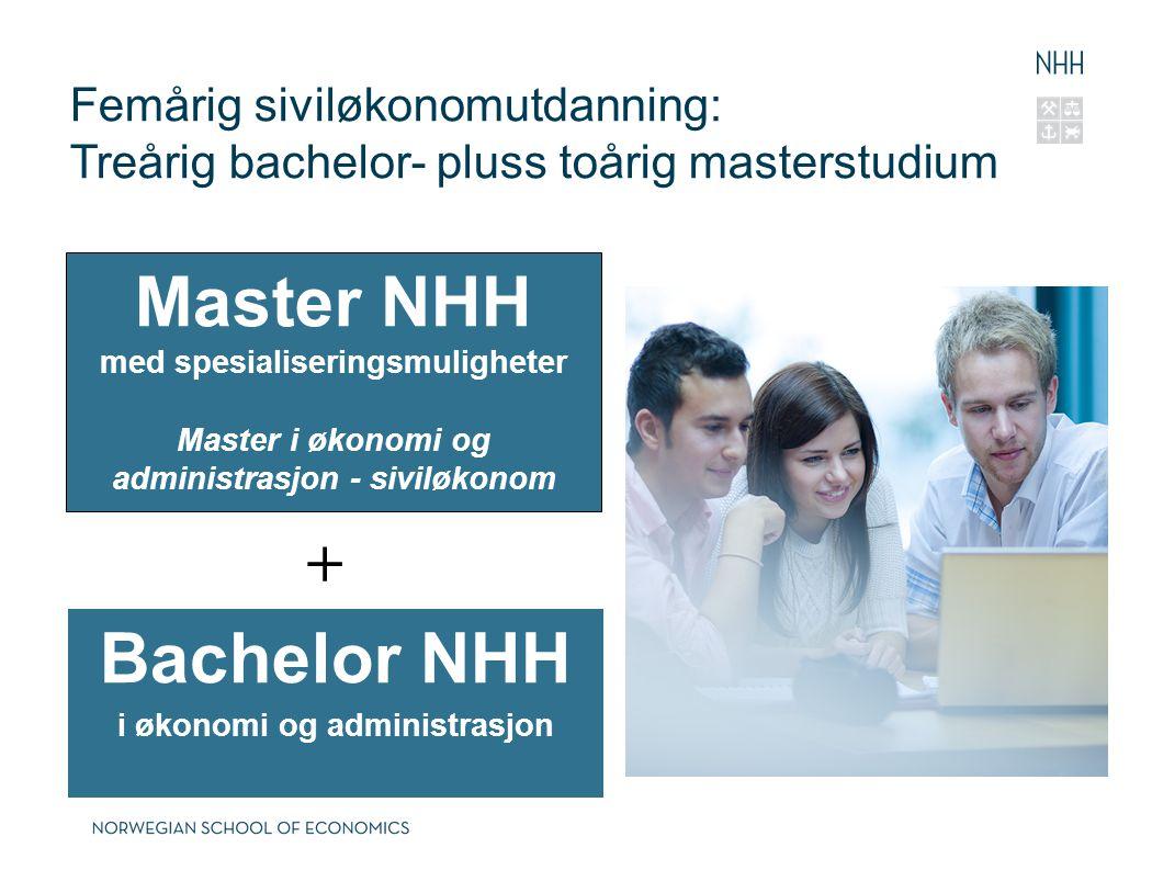 Master NHH Bachelor NHH