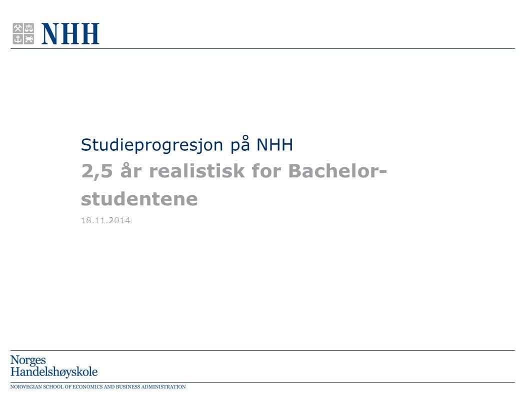 Studieprogresjon på NHH