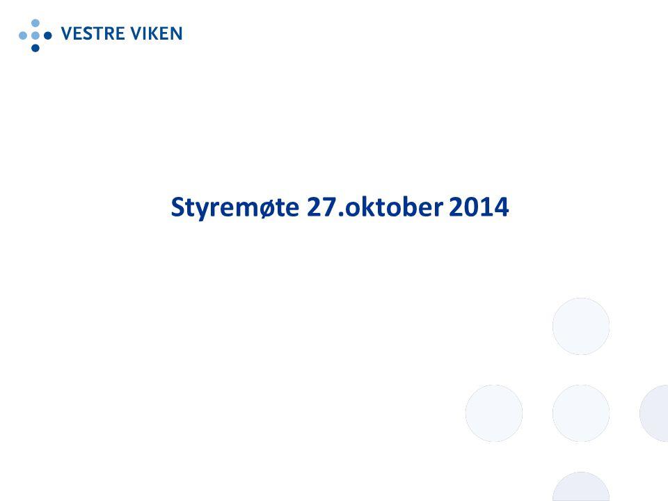 Styremøte 27.oktober 2014