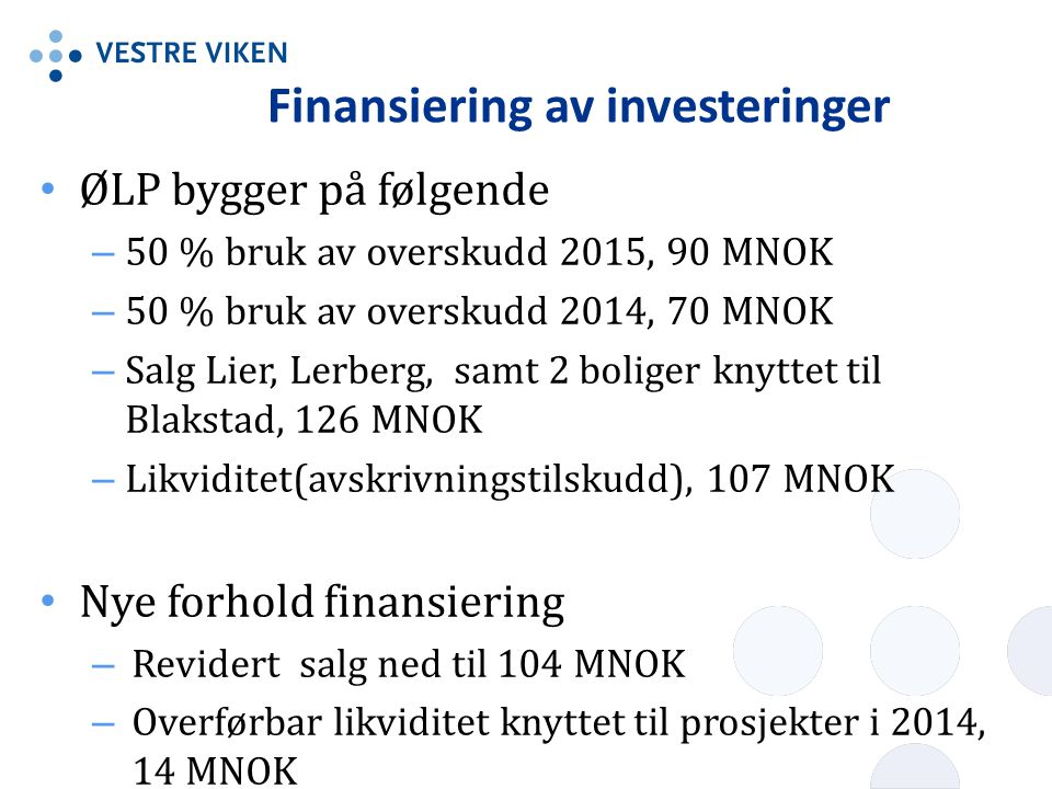 Finansiering av investeringer