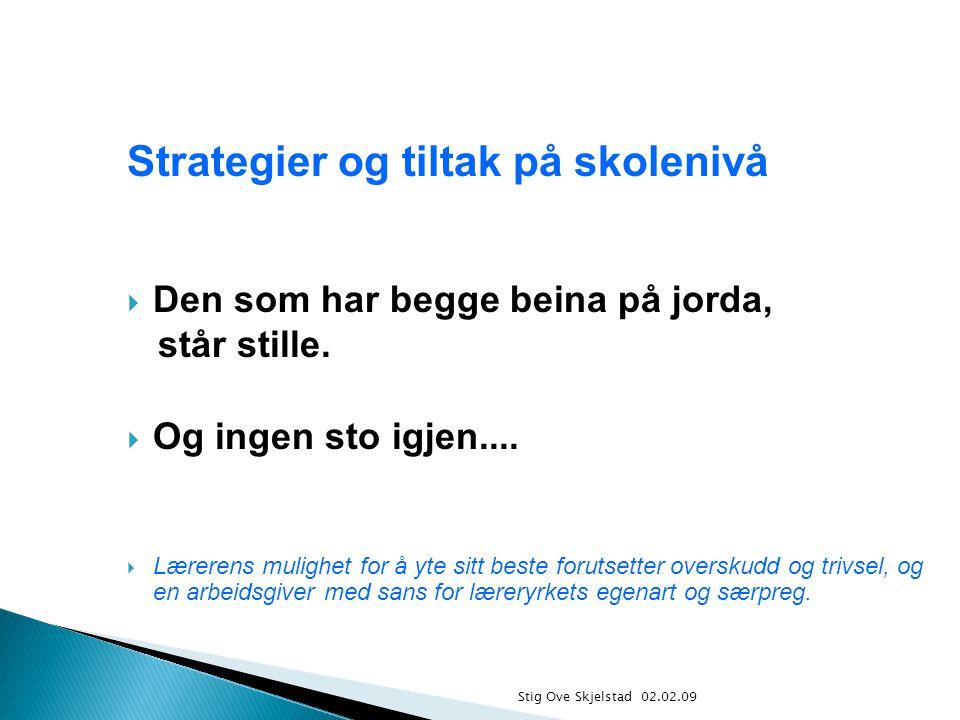 Strategier og tiltak på skolenivå