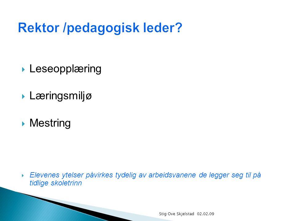 Rektor /pedagogisk leder