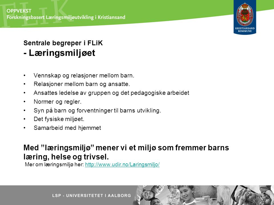 Sentrale begreper i FLiK - Læringsmiljøet