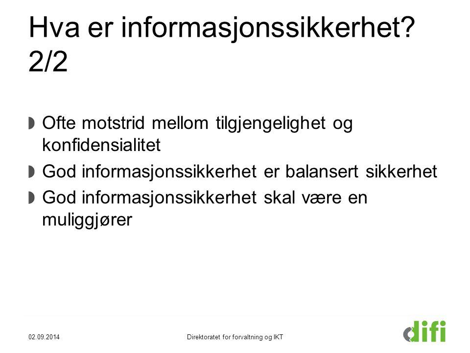 Hva er informasjonssikkerhet 2/2