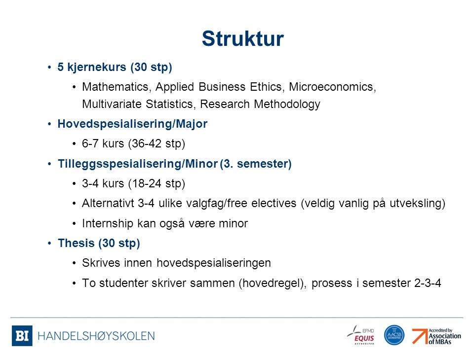 Struktur 5 kjernekurs (30 stp)