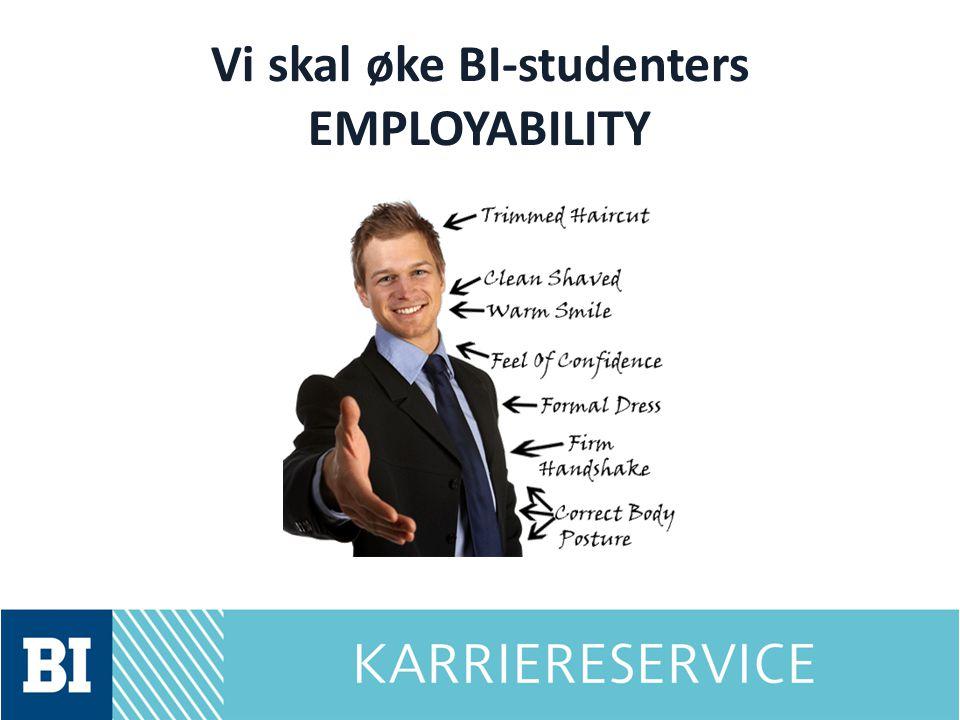 Vi skal øke BI-studenters EMPLOYABILITY