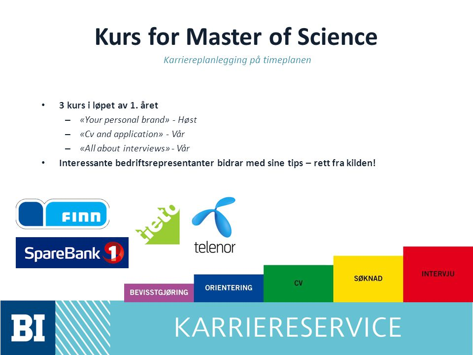 Kurs for Master of Science