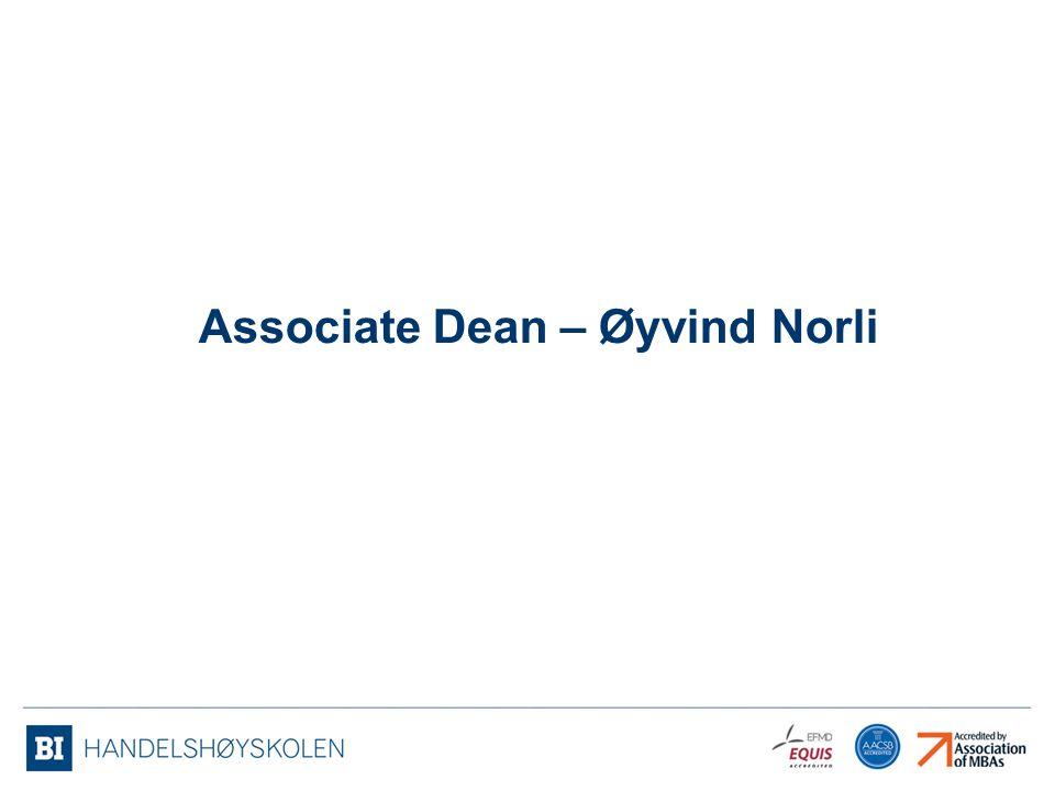 Associate Dean – Øyvind Norli