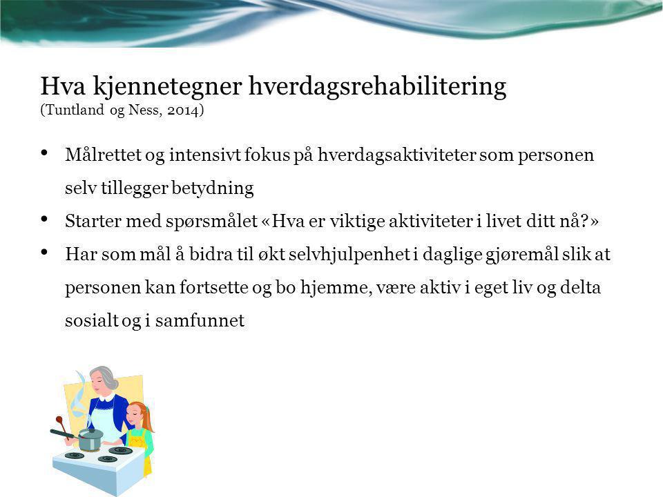 Hva kjennetegner hverdagsrehabilitering (Tuntland og Ness, 2014)