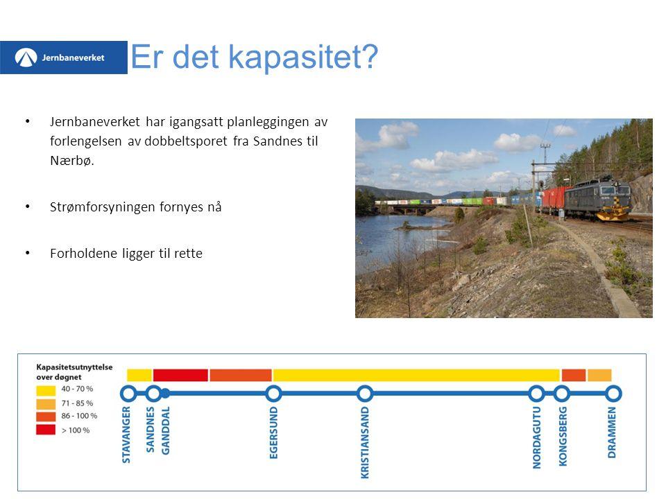 Er det kapasitet Jernbaneverket har igangsatt planleggingen av forlengelsen av dobbeltsporet fra Sandnes til Nærbø.