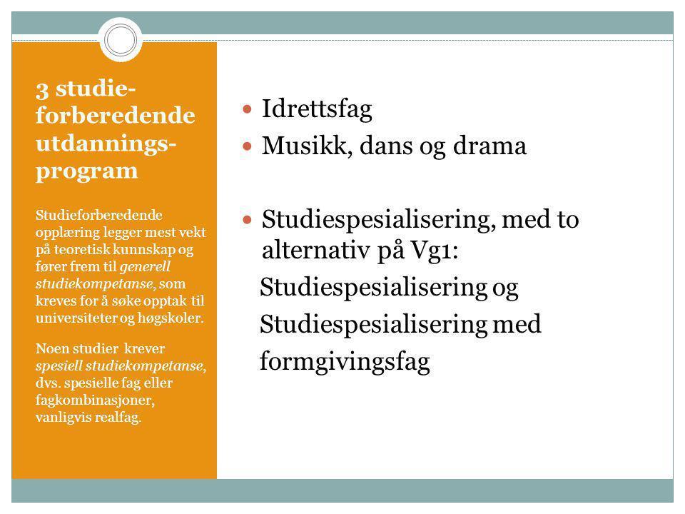 3 studie-forberedende utdannings-program