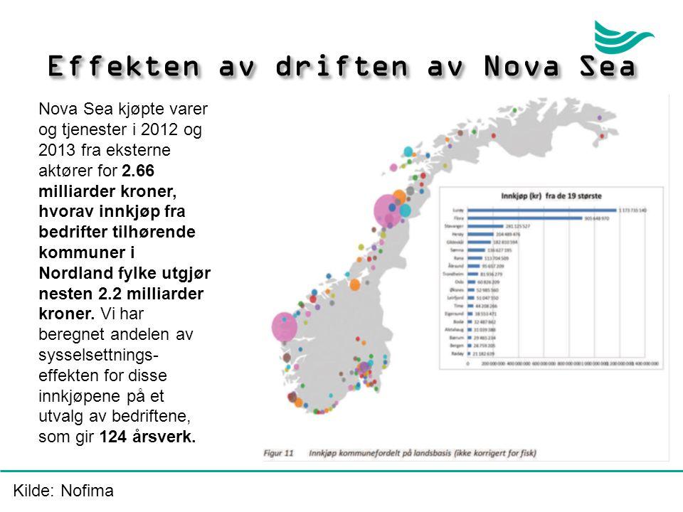 Effekten av driften av Nova Sea