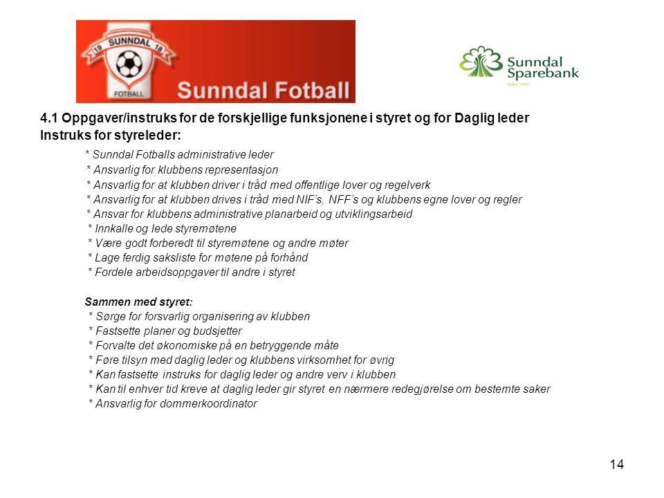 * Sunndal Fotballs administrative leder