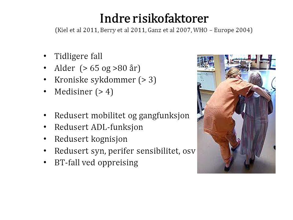 Indre risikofaktorer (Kiel et al 2011, Berry et al 2011, Ganz et al 2007, WHO – Europe 2004)