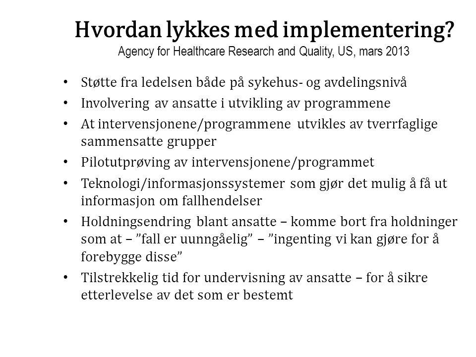 Hvordan lykkes med implementering