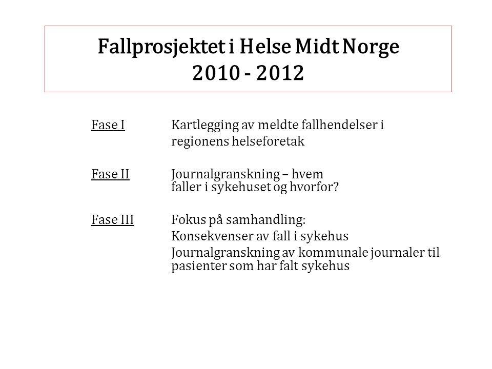 Fallprosjektet i Helse Midt Norge 2010 - 2012