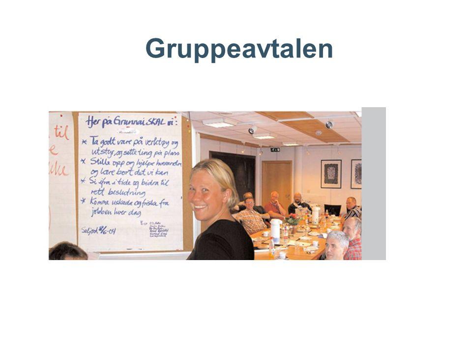 Gruppeavtalen Eksempel fra et team i Veidekke 2006